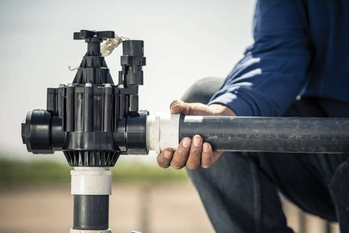 Подключение трубы к электромагнитному клапану PGA