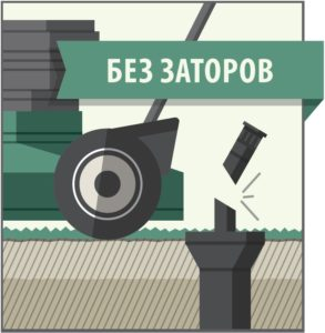 Без стопорений штока распылителя
