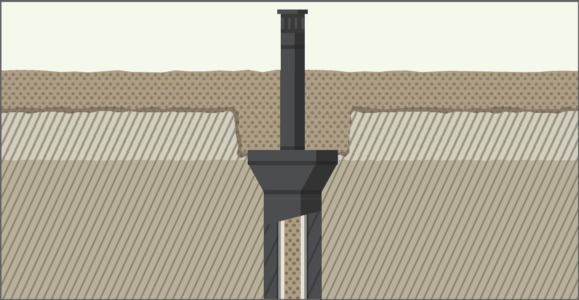 Распылитель под слоем песка