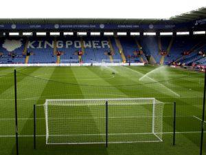 Полив фтубольного поля Кing Power Leicester