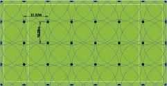Схема полива поля для регби 151 х 77м
