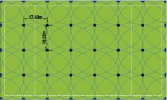 Схема полива поля для регби 122 х 73 м